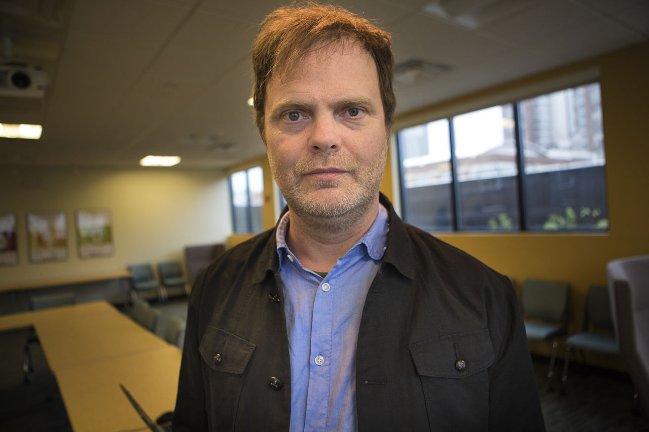 Rainn Wilson at the WBUR Studios Novenber 11, 2015. (JesseCosta/WBUR)